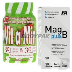 FA Mag Plus B - 90 tabl.  + UNS VIT a MIN - 30 kaps. + 30 tabl.