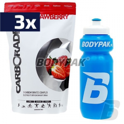 3x FA Nutrition Carborade - 1kg  + BODYPAK Bidon 650ml - 1szt. [GRATIS]