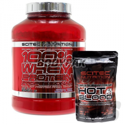 Scitec Whey Protein Professional – 2350g + Hot Blood 3.0 - 100g