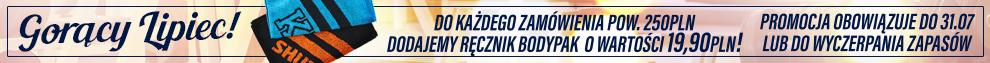 Do każdego zamówienia > 250 PLN - RĘCZNIK BODYPAK GRATIS!