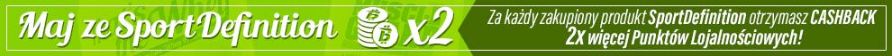 Za każdy zakupiony produkt SportDefinition dostajesz 2x więcej Punktów Lojalnościowych!