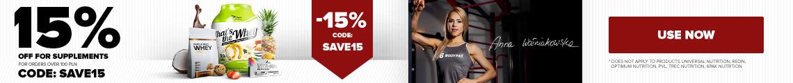 15% zniżki na zakupy powyżej 100 zł
